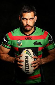 Greg Inglis is an Aboriginal NRL player for the South Sydney Rabbitohs. Australian Rugby League, Australian Football, Super Rugby, Rugby Men, Sport Photography, Creative Photography, Sports Images, Senior Boys, Rugby Players