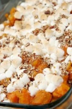 Baked Sweet Potato Casserole With Marshmallows For Two