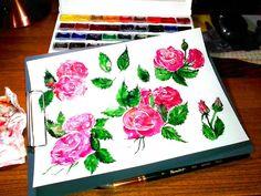 #ArtBySilmairel #MyArt #Art #Artist #Illustration #Sketch #Watercolor #Paint #Brush #Roubloff #Raphael #БелыеНочи #WhiteNights #Creative #Spring #Nature #Botany #Flower #Bloom #Blossom #Bud #Leaf #Rose #Green #Pink #OldSchool #Tattoo #FreeLance #MicroStock