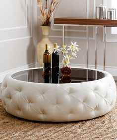 Look what I found on #zulily! Havana Leather Round Coffee Table by Abbyson Living #zulilyfinds
