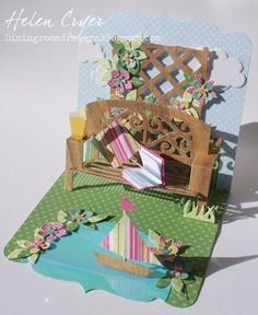 The Dining Room Drawers: Pop It Ups Garden Bench Card 'English Summer'