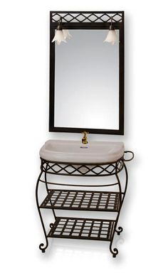 Iron Furniture, Deco Furniture, Bathroom Furniture, Furniture Makeover, Furniture Design, Wall Decor Design, Ceiling Design, Bathroom Sink Vanity Units, Sinks