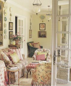 bel air sunroom of donna kaplan by lyn von kersting published country french decorating - Country French Decor