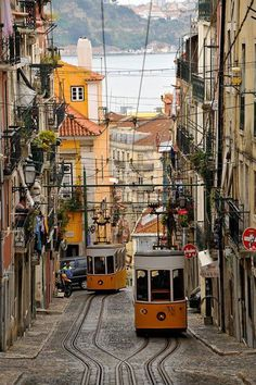 The streets of Lisbon, Portugal, ideal for a short city break.