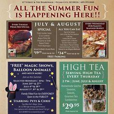 Specials this summer! 2016