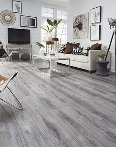 Living Room Hardwood Floors, Grey Hardwood Floors, Living Room Wood Floor, Wood Floor Kitchen, Bedroom Flooring, Living Room Grey, Living Room Decor, Kitchen With Grey Floor, Gray Floor