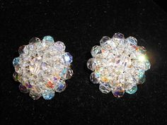Vintage Vendome Aurora Borealis Cluster Glass Bead by TrendyCharm, $40.00