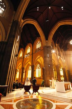 Wow!! Love it when we get into buildings with history and, a bride and groom bring us there. To give them amazing images. St. Patrick's Cathedral. Melbourne