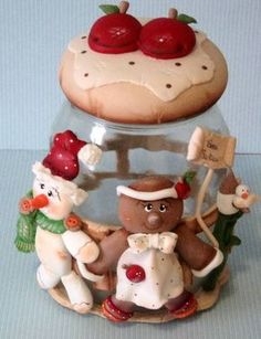 Sculpey Clay, Cute Polymer Clay, Cute Clay, Polymer Clay Crafts, Christmas Crafts, Christmas Decorations, Clay Jar, Polymer Clay Christmas, Play Clay