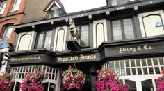 Right in the heart of Putney on the high street, The Spotted Horse is a traditional pub that has been lovingly serving for over 250 years. Putney station is a hop, skip & jump away! Old London, West London, Uk Pub, British Home, Pub Bar, Fulham, Capital City, My Happy Place, Great Britain
