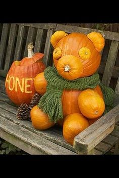 Pooh bear pumpkin
