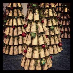 Wine cork Christmas trees. www.facebook.com/recorkedllc