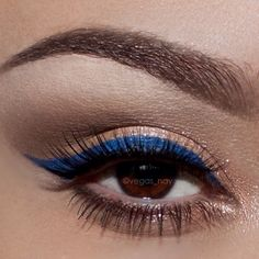 Nice use of the Blue eyeliner here which is making these gorgeous brown eyes pop.