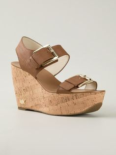 Michael Michael Kors 'warren' Wedge Sandals - Gore - Farfetch.com