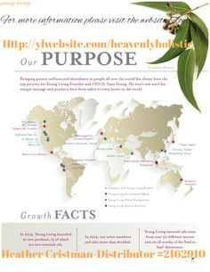 This shows you some of the places around the world, where our oils come from. Visit http://ylwebsite.com /heavenlyholistic on products or seed to seal.