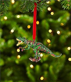 dillards trimmings 5 cloisonn dinosaur ornament dillards