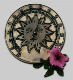 65-123 - Sun Thermometer Clock, Hardware, Sun, Wall, Home Decor, Watch, Decoration Home, Room Decor, Clocks