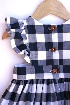 Gingham Pinafore Dress - Pinafore Dress Toddler - Gingham Girls Dress - Navy Blue Gingham Pinafore - Estás en el lugar correcto para diy furniture Aquí presentamos diy home decor que está buscando - Baby Girl Dress Patterns, Dresses Kids Girl, Little Girl Outfits, Little Girl Fashion, Kids Outfits, Kids Fashion, Baby Dresses, Dress Girl, Baby Frocks Designs