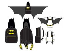 Batman Hooded Costume Backpack With Wings