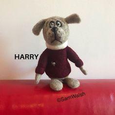 Harry the Needle Felted Dog. Quirky Dog. Handmade Dog. Comical | Etsy Needle Felted Animals, Felt Animals, Needle Felting, Dog Lover Gifts, Dog Gifts, Dog Lovers, Unusual Animals, Colorful Animals, Felt Gifts