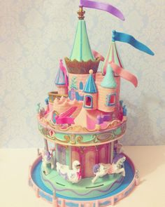 """shelvesofwhimsy: """"Starcastle Carousel Castle  #starcastle #toystagram #vintagetoy #toycollector #vintagetoycollector #shelvesofwhimsy #trendmasterstarcastle """" 90s Toys, Retro Toys, Project Mc2 Toys, Kitsch, Toy Castle, Childhood Memories 90s, Toys Land, Chip Bags, Toy Collector"""
