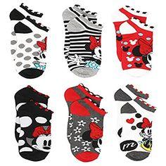 53fbaa5a661 Minnie Mouse Womens Teen Adult 6 pack Socks