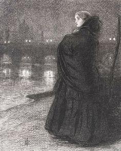 Pre Raphaelite Art: The Bridge of Sighs. 1858. Sir John Everett Millais