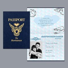 Passport - Save The Date For Destination Weddings