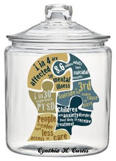 """""""Brain in a Jar With Lid. Mental Illness Awareness Week Oct 4, 2015"""" by cynthiahcurtis ❤ liked on Polyvore featuring art"""
