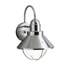 Kichler Lighting 9022 Seaside Outdoor Sconce - loving this for our bathroom vanity
