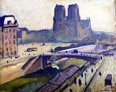 The Athenaeum - Notre-Dame de Paris (Albert Marquet - ) Henri Matisse, Rio Sena, Le Havre, Great Paintings, Impressionist Paintings, France, Artist Painting, Photos, Pictures