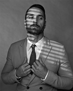 Raoul Bova photographed by Marc Hom for Vanity Fair [Italia], April Raoul Bova, Vanity Fair Italia, Plaid Pants, Male Form, Suit And Tie, Hair And Beard Styles, Haircuts For Men, Stylish Men, Actors & Actresses
