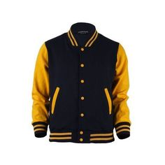 Yellow and Black Varsity Jacket Urban Outfits, Cool Outfits, Casual Outfits, Jacket Style, Shirt Style, Senior Jackets, Varsity Jacket Outfit, Winter Jackets, Men's Jackets