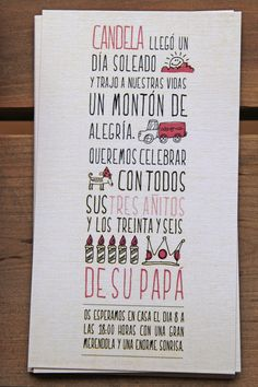 invitation kids party by www.mrwonderful.es  me encanta!