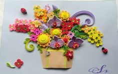 Quilling flowers Orchid flowers  Made by Sisie
