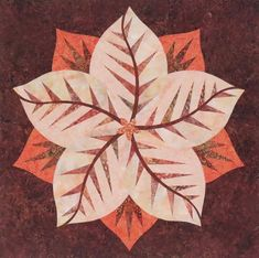 Poinsettia, Quiltworx.com, Made by CI Karen Bryant Table Topper Patterns, Foundation Paper Piecing, Barn Quilts, Color Card, Poinsettia, Fabric Design, Quilt Patterns, Plant Leaves, Cards