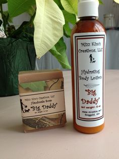Mizz Kim's lotions and soap for men www.mizzkim.net