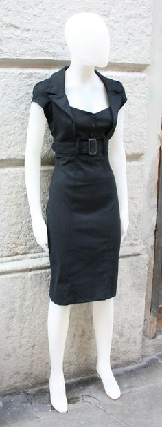 Black dress pinup dressfitted dressretro 50s by goodtimesbarcelona, $79.95