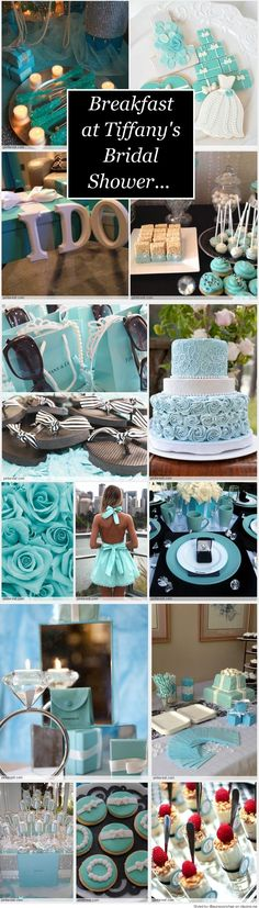 ღღ Breakfast at Tiffany's Bridal Shower. So in love with this