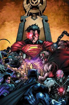 #Superman #Fan #Art. (Injustice: Gods Among Us Vol.1#1 Cover) By: Jheremy Raapack & Tony Aviña. ÅWESOMENESS!!!™ ÅÅÅ+