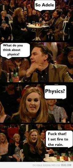 -Adele and physics...-
