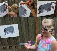 Winnie the Pooh Birthday Party - Cute ideas, Pin the Tail on Eyore games, Favors, etc. LoVe!