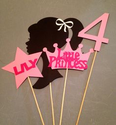 4pc central temática de Barbie fiesta de por InspiredbyLilyMarie