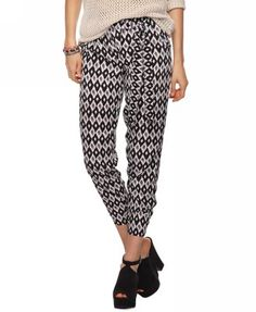 High Rise Abstract Harem Pants | FOREVER21 - 2000042949