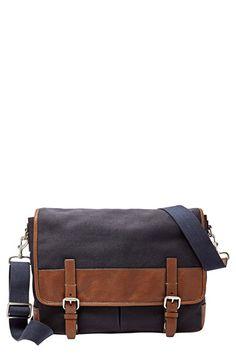 b1dee5a35a Fossil  Graham  Canvas Messenger Bag