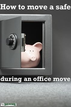 Even a safe needs to be kept safe! When it comes time to move your office, seek the experts. Office Moving, Moving Day, Get Moving, Packing Hacks, Moving Services, Things To Come, Suitcase Packing Tips