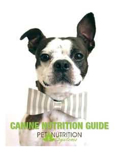 2013 PNS Canine Nutrition Guide II