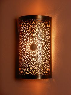 fine moroccan wall light with its delicate openwork patterns