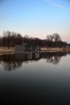 Floating house in Poland