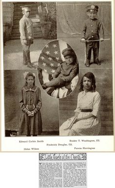 Some Children of Famous Families (Booker T. Washington III and Frederick Douglas III are here) - July, 1920